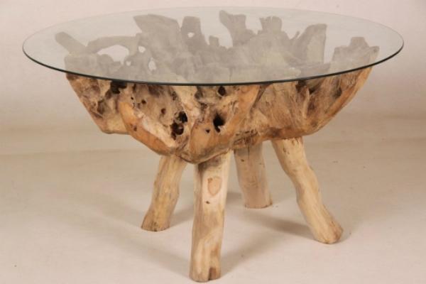 Teak Wurzel Tisch wurzeltisch aus teakholz - wohnpalast magazin