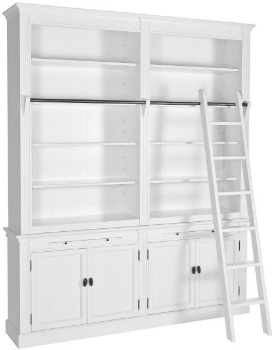 Bücherschrank im Landhaus Stil weiß