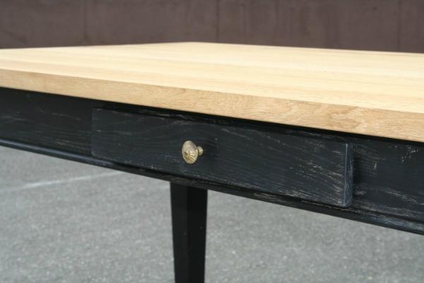 Esstisch Vintage black Eiche verschiedene Oberflächenbehandlungen sind möglich