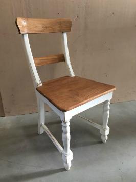 Stuhl Holz Teak Shabby Chic Vintage Landhausstil