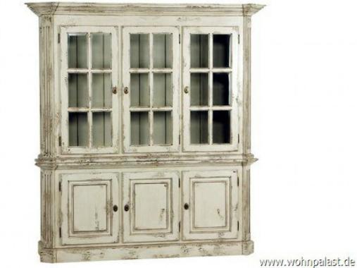 Vitrinenschrank Massivholz Vintage Teak Breite 180 cm