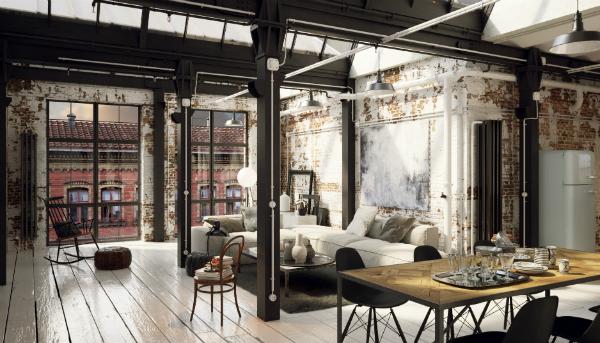 loft einrichten wohnpalast magazin. Black Bedroom Furniture Sets. Home Design Ideas