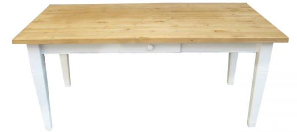 Landhaus Tisch Massivholz gewachst weiß