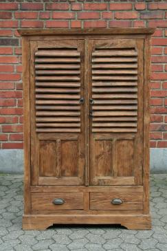 Teak Schrank Louvre recycelt Altholz