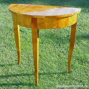 Biedermeier Tisch Halbmondtisch aus Kirschholz Schellackpolitur