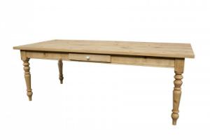 Gruenderzeit Tisch Esstisch aus Massivholz Kiefer Farbe Antikbraun