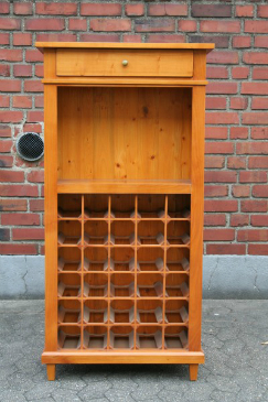Weinregal aus Kirschholz im Biedermeier-Stil