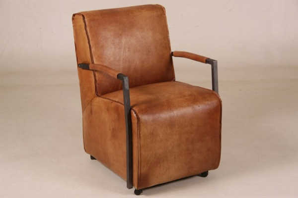 "Sessel ""Coventry"" Büffelleder cognac"