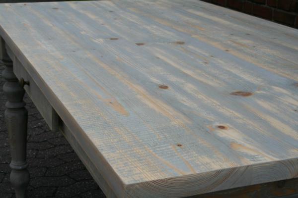 Gründerzeit Tisch Massivholz - altgrau