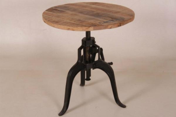 Vintage Industrial Tisch Durchmesser 75 cm