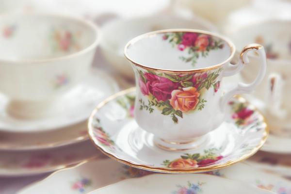 Vintage Teetasse aus Porzellan