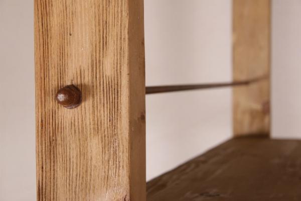 Industrie Regal 180 cm aus Massivholz als Raumteiler