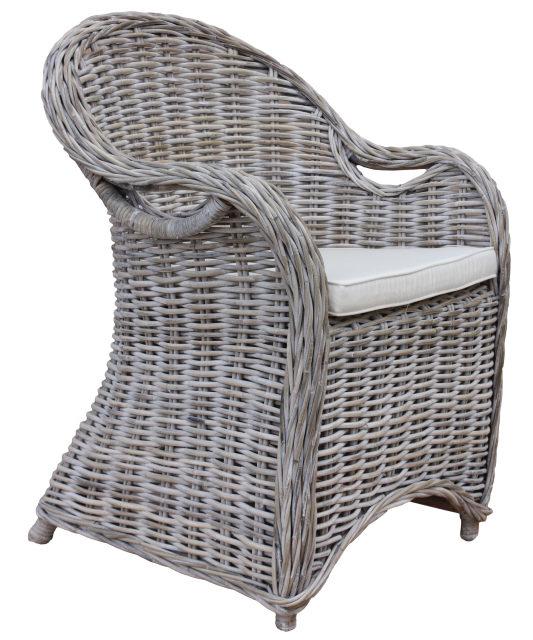 Stuhl Parma mit Kissen grau Creme