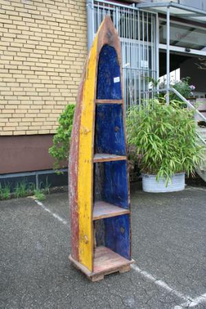 original-recyceltes-fischerboot-aus-bali-gelb-rot-regal