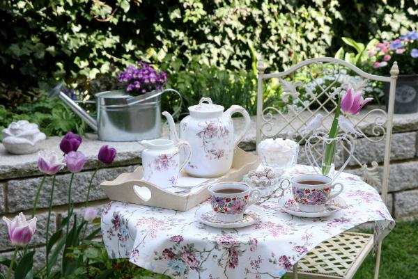 Tischdekoration Fruehlingsgarten
