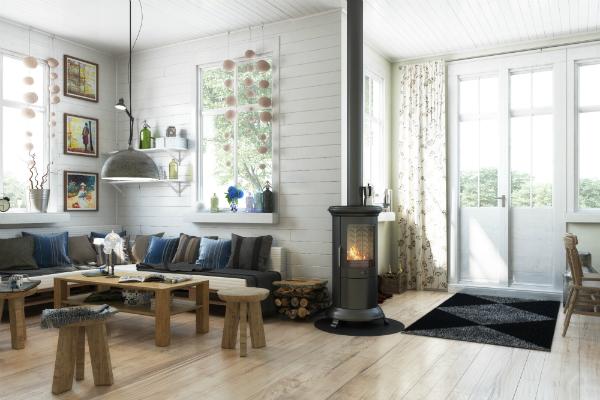 Einrichtung im skandinavischen Gartenhaus