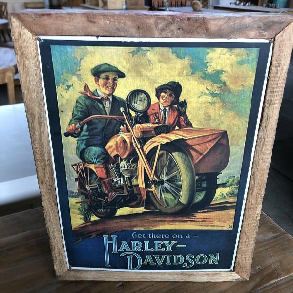 teakbild-harley-davidson