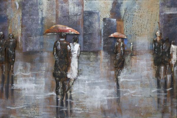 3d-bild-regen-eisen-handgefertigt-wanddekoration