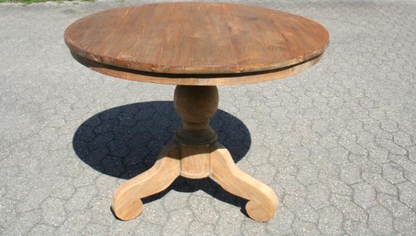 Teakholz Tisch - Vintage Teak - rund