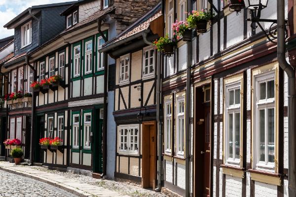 Fachwerkhaeuser in Wernigerode im Harz