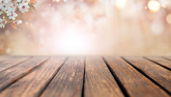 Sonnenstrahlen können Holz ausbleichen