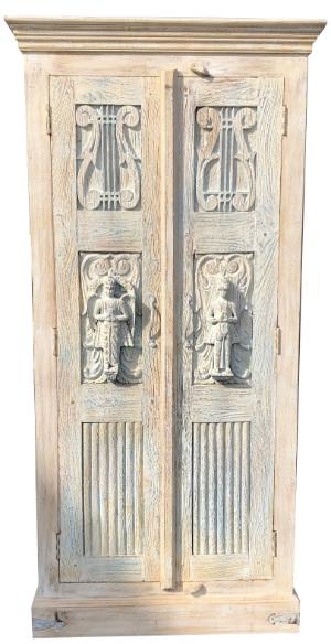 indischer Schrank Lydia aus recyceltem Holz