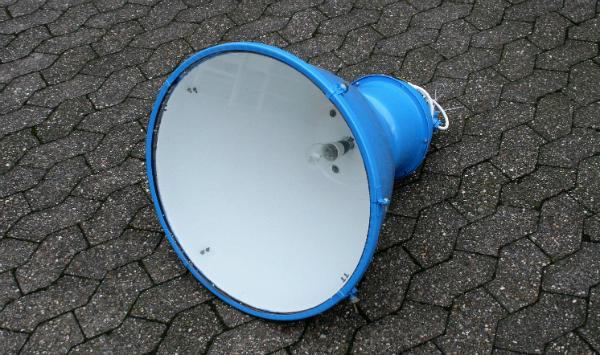 Lampe Industrie original blau