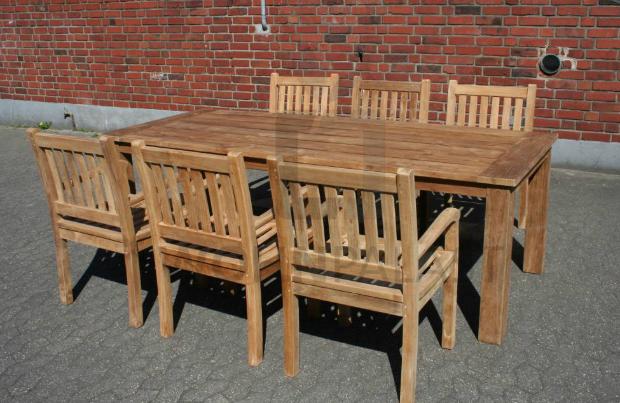 Gartenmöbel Set Norderney aus massivem Teakholz