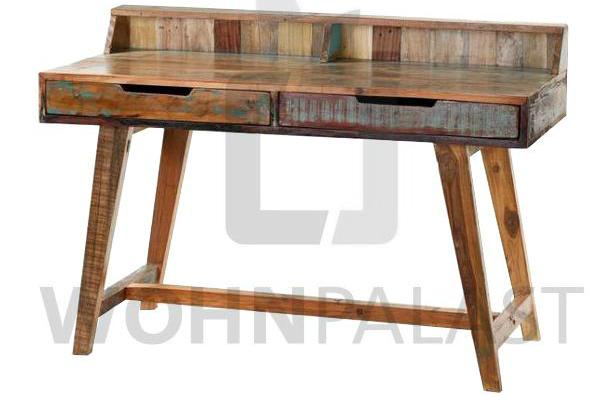 Schreibtisch Shabby Chic aus recyceltem Teakholz