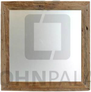 Spiegel Rustikal aus recyceltem Teakholz