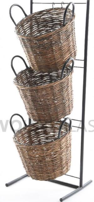 Gartengestell mit Weidenkörben