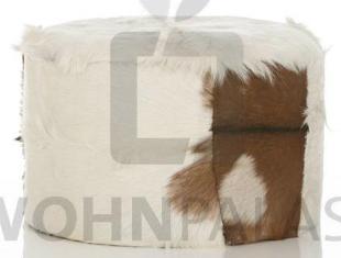 Pouf 65cm rund aus Ziegenfell