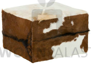 Pouf 65cm quadratisch aus Ziegenfell