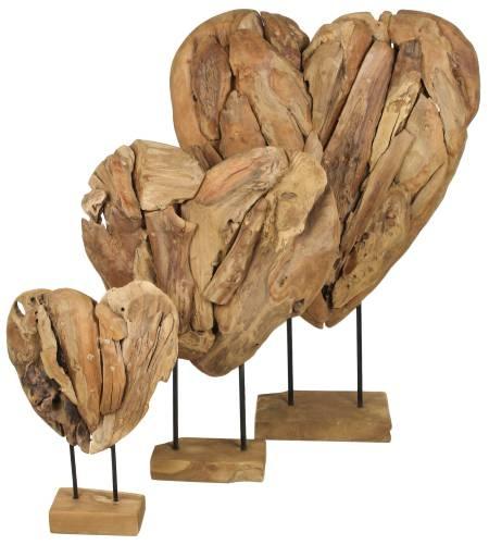 Herz Valentin aus Teakholz