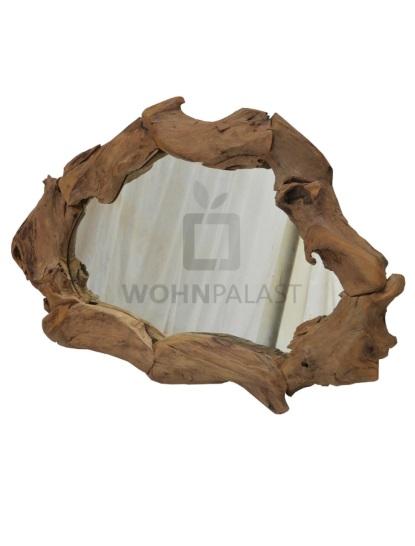 Spiegel Akar Oval aus Teakholz