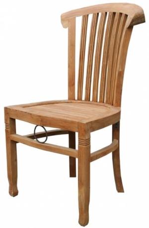 Stuhl aus massivem Teakholz