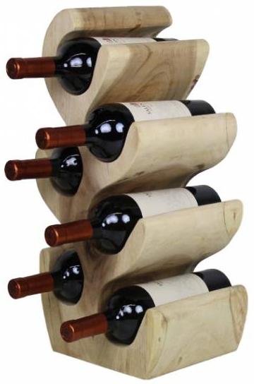 Weinständer aus einem massiven Suar Holz