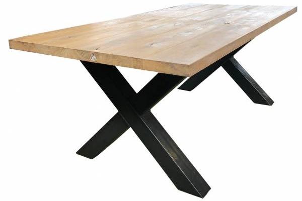 Industrie Design Tisch Eiche 200cm massive-eichentische