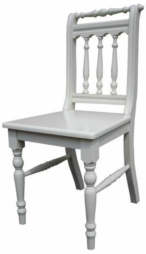 Landhaus Stuhl Massivholz creme einrichtung-schwarz-weiss