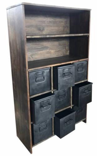 Regal Schrank Industrial mit Metall Schubladen