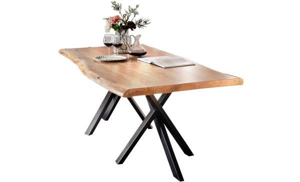 esstisch-aus-akazienholz-mit-eisengestell-160x85cm