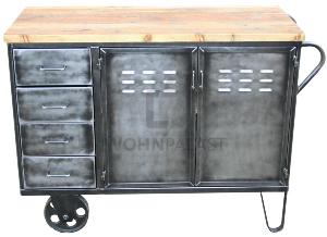 Vintage Industrie-Kommode mit Rädern