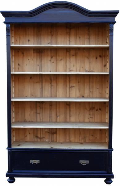 Bücherregal Novalis aus massivem Weichholz schwarz - Ladenregale aus Holz