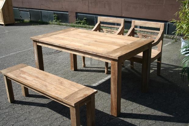 Teakolz Gartenmöbel Set Stralsund - Gartengruppe aus Teakholz