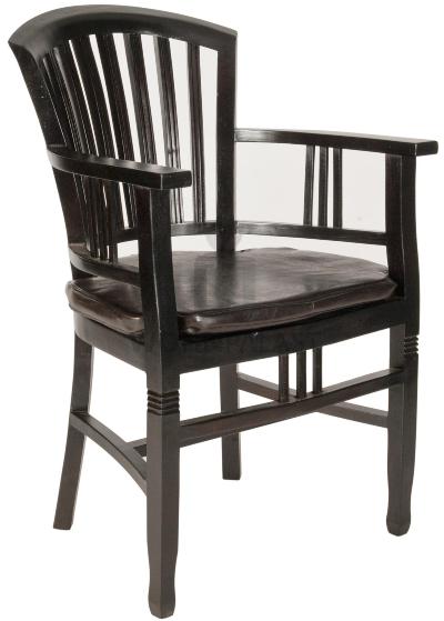 Armlehnstuhl Samba schwarz - Möbel aus Mahagoniholz