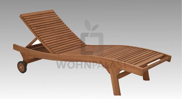Sunbed Lounger Sylt Teakholz - Teak-Liegen für den Garten