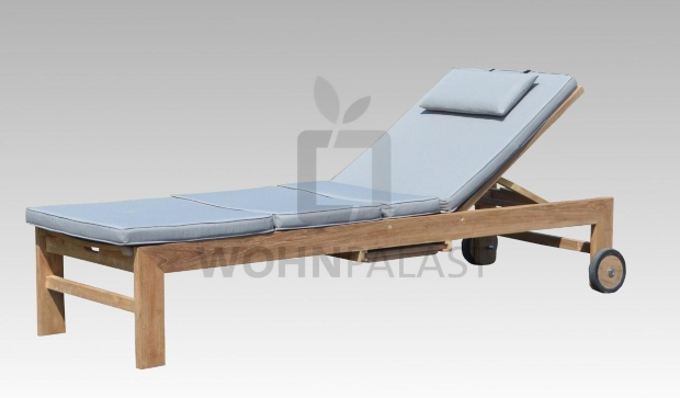 Sunbed Lounger Teakholz mit Auflage - Teak-Liegen für den Garten