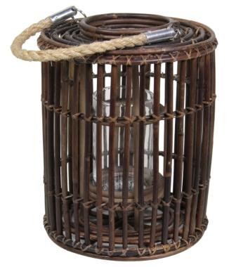 laterne-zylinder-sarang-brown-rattan Landhausterrasse gestalten
