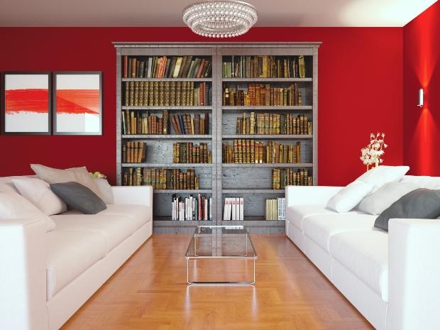 Bücher aufbewahren - massives Buchregal