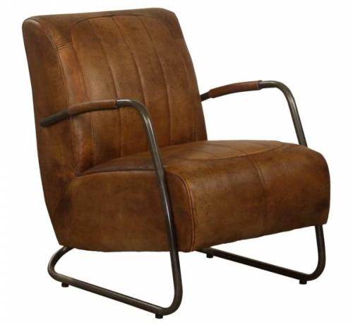 Industrie Design Stuhl Muenchen Vintage Bueffelleder